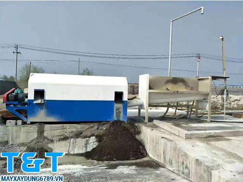 Máy phân loại cát đá trong bê tông DWFL-30 có công dụng sàng, tách cát, đá, sỏi trong bê tông tươi