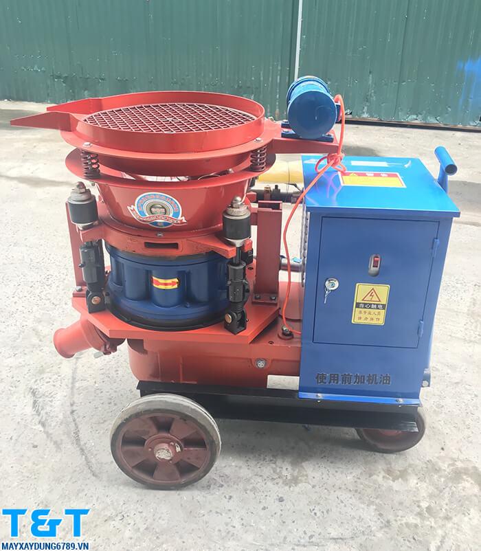 Máy phun vẩy bê tông PZ5 còn dùng kết hợp được với máy nén khí , phụ kiện khác : phớt cao su, phớt sắt