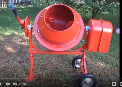 cách sử dụng máy trộn bê tông quả lê 350 lít