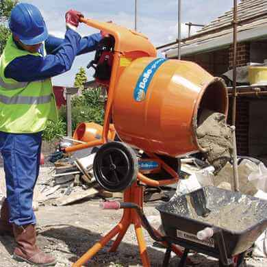 Nguyên tắc sử dụng máy trộn bê tông