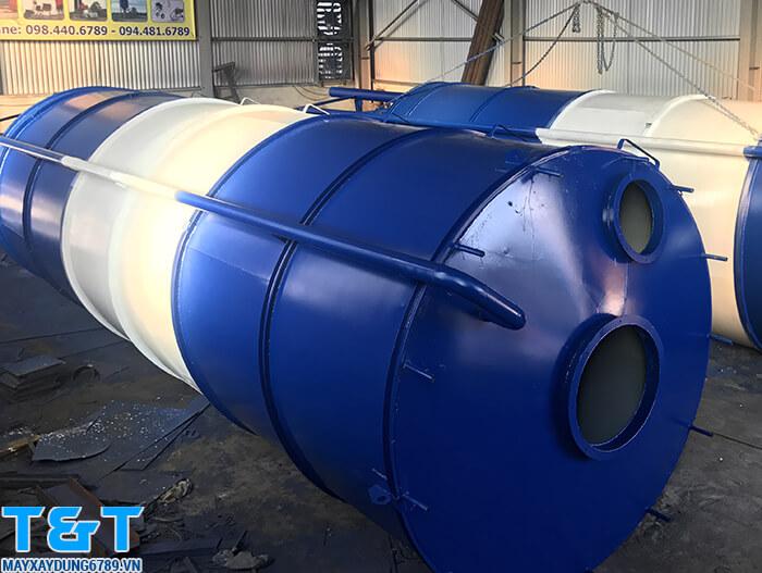 Silo chứa xi măng lào bộ phận quan trọng của trạm trộn bê tông