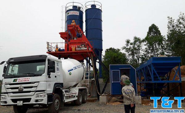 Trạm trộn bê tông 60m3/h là sự lựa chọn thông thái của các nhà thầu xây dựng