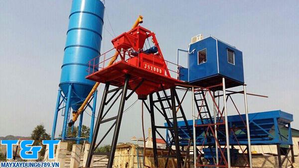 Trạm trộn bê tông 60m3/h có công suất tới 105 kw/h, silo 60 tấn.