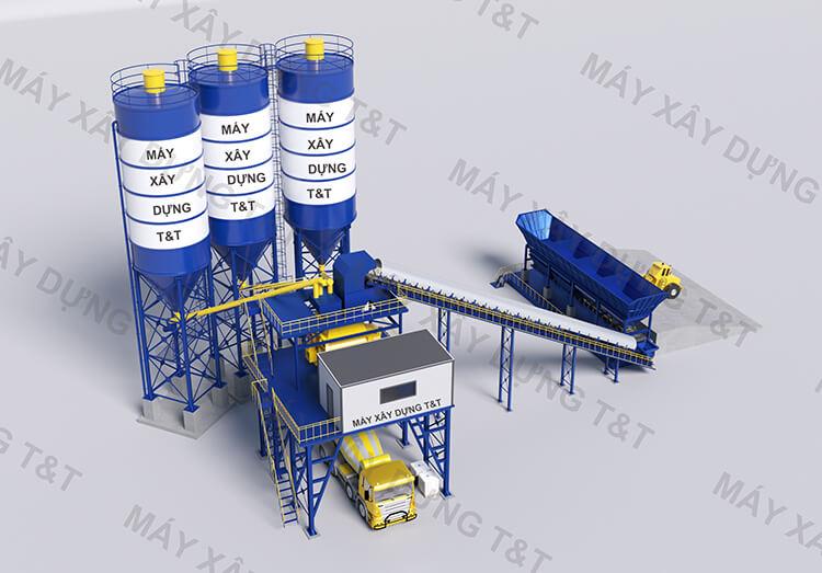 Lắp đặt hệ thống trạm trộn bê tông 120 m3/h
