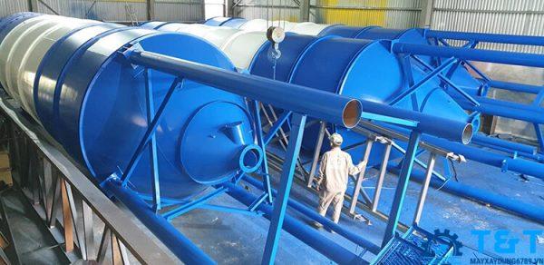 báo giá silo chứa xi măng 100 tấn, 120 tấn, 150 tấn, 200 tấn