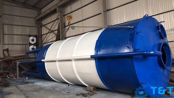 Silo xi măng 100 tấn, 120 tấn, 150 tấn, 200 tấn